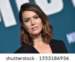 Small photo of LOS ANGELES - NOV 05: Mandy Moore arrives for the 'Midway' World Premiere on November 05, 2019 in Westwood, CA