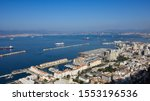 View of Spanish port of Algeciras and the British Colony  Gibraltar from  The Rock .