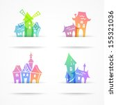 set of  architecture elements ... | Shutterstock .eps vector #155321036