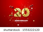 20th anniversary celebration.... | Shutterstock .eps vector #1553222120