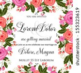 wedding invitation card | Shutterstock .eps vector #155323619