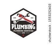 plumbing service logo design  ...   Shutterstock .eps vector #1553252603