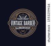 barbershop logo vintage classic ... | Shutterstock .eps vector #1553259416