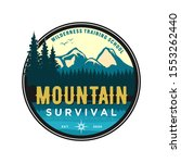 outdoor mountain nature logo  ... | Shutterstock .eps vector #1553262440