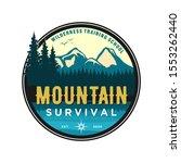 mountain logo outdoor emblem... | Shutterstock .eps vector #1553262440