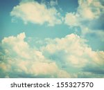 blue sky  clouds and sun light... | Shutterstock . vector #155327570