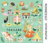 Hand Drawn Bundle Of Thailand...
