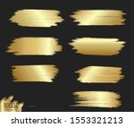 strip gold texture. vector... | Shutterstock .eps vector #1553321213