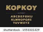 linear font design  trendy... | Shutterstock .eps vector #1553331329