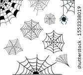 the spider web is old and... | Shutterstock .eps vector #1553338019