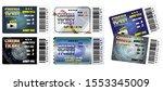 set of cinema tickets in... | Shutterstock .eps vector #1553345009