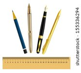set of stationery items | Shutterstock .eps vector #155336294