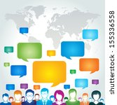 global communication network... | Shutterstock .eps vector #155336558