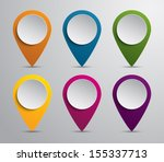 set of paper map pointers for...