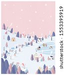 vector illustration of winter... | Shutterstock .eps vector #1553395919