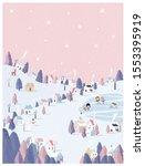vector illustration of winter...   Shutterstock .eps vector #1553395919
