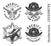 monochrome vintage sheriff... | Shutterstock . vector #1553398793