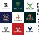 deer  cow  bull logo design....   Shutterstock .eps vector #1553403779