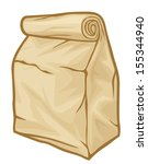 paper  lunch  bag  | Shutterstock .eps vector #155344940