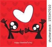 couple in love. valentine s day ... | Shutterstock .eps vector #155347010