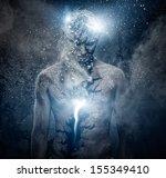 man with conceptual spiritual... | Shutterstock . vector #155349410
