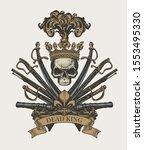 vector heraldic coat of arms in ... | Shutterstock .eps vector #1553495330