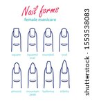 nail shapes female manicure.... | Shutterstock .eps vector #1553538083