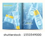3d cosmetic magazine template... | Shutterstock .eps vector #1553549000