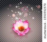 lotus oil lamp indian. diwali...   Shutterstock .eps vector #1553552570