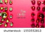 colorful christmas balls... | Shutterstock . vector #1553552813