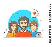 team work characters vector... | Shutterstock .eps vector #1553555036