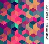 geometric background   seamless ... | Shutterstock .eps vector #155356244