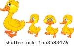 Cartoon Happy Duck Family...