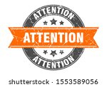 attention round stamp with... | Shutterstock .eps vector #1553589056