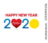 creative new year 2020 greeting ... | Shutterstock .eps vector #1553594156