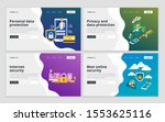 landing page template of... | Shutterstock .eps vector #1553625116