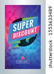 super discount. editable... | Shutterstock .eps vector #1553633489