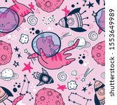 kids cute seamless pattern with ... | Shutterstock .eps vector #1553649989