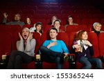 group of young people watching... | Shutterstock . vector #155365244