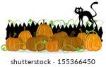 pumpkins with leaves and ... | Shutterstock .eps vector #155366450