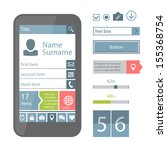 mobile flat ui elements. see...