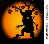 halloween tree | Shutterstock .eps vector #155370248
