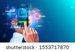 contactless payment concept....   Shutterstock . vector #1553717870