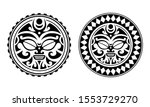 set of round tattoo ornament...   Shutterstock .eps vector #1553729270