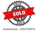 Sold Grunge Stamp With Red Band....