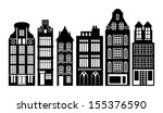 Old Holland Houses Set  Vector...