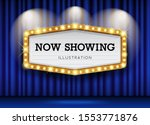 cinema theater blue curtains... | Shutterstock .eps vector #1553771876