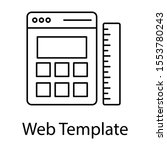 line design of web interface as ...