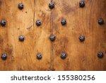 Detail Of Old Solid Door. Wood...