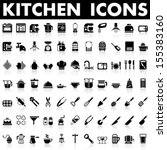 kitchen icons | Shutterstock .eps vector #155383160